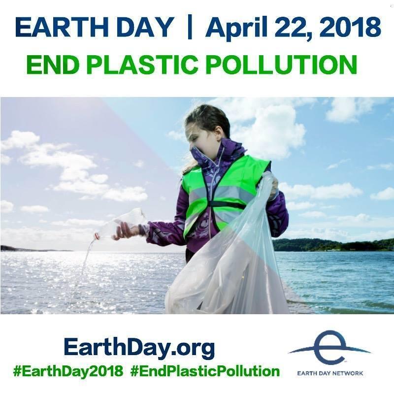 Световен ден на Земята - 22 април 2018 - Свят без замърсяване с пластмаси